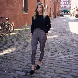 Plaid legging pant